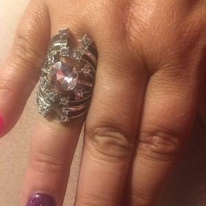 Walk A Vine Line silver ring